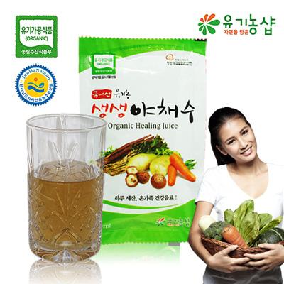 [유기농 생생야채수 110㎖ 30포] 유기가공