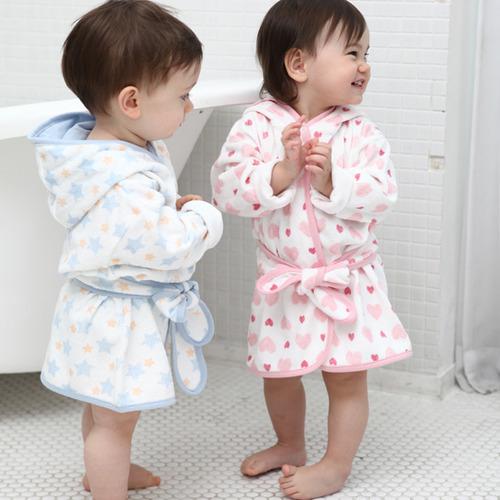 오가닉코튼 밤부 유아 후드목욕가운 2종