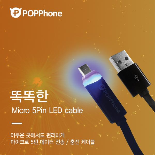팝폰 1.2M (DC09) 5핀 LED 고속