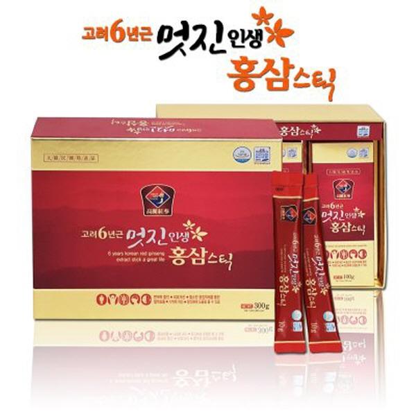 6년근멋진인생홍삼스틱30포/홍삼스틱/홍삼정/홍