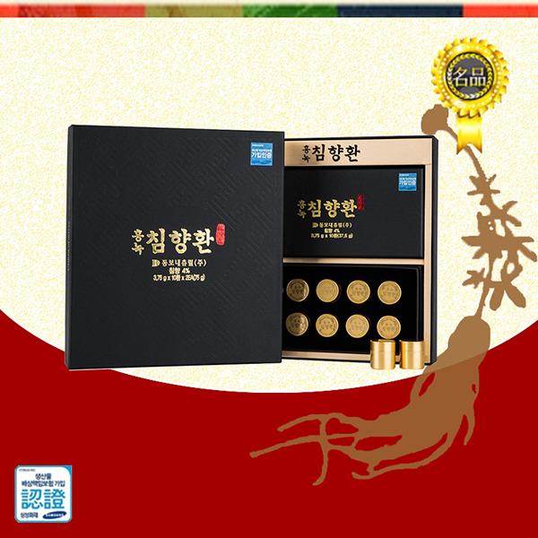 홍녹침향환 3.75gX10환X2개/홍삼환/녹용