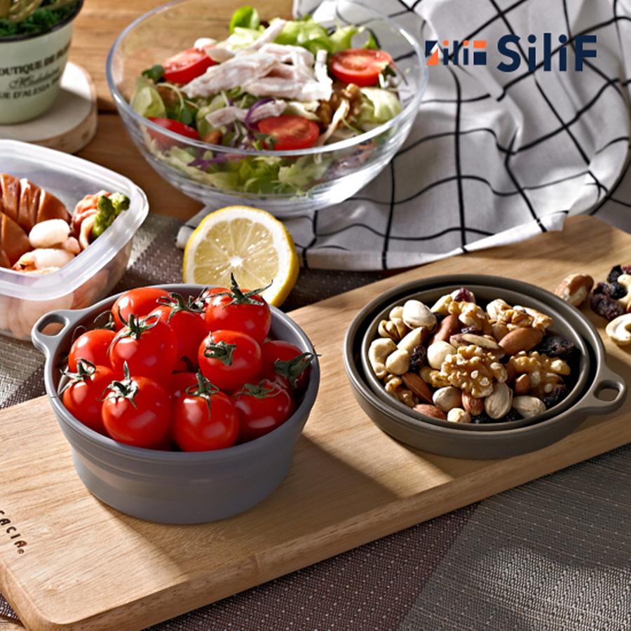 실리프 이유식용 플레티넘 실리콘 다용도 접이식그릇