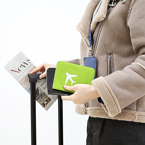 커플 신혼여행 비행기티켓 여권보호 커버지갑 Vacance