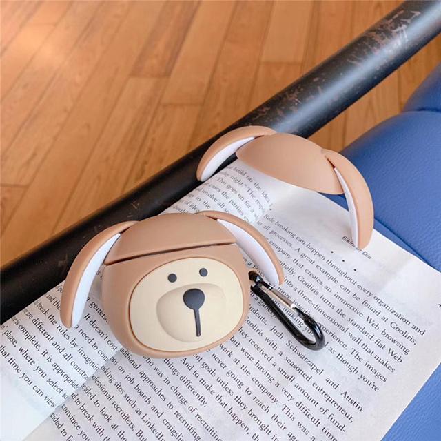 [네모난오렌지] 귀여운 강아지곰 에어팟 케이스