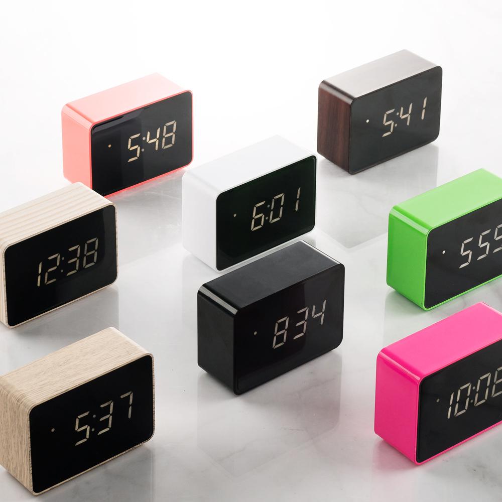 [네모난오렌지] 플라이토 LED 베이직 직사각 탁상시계