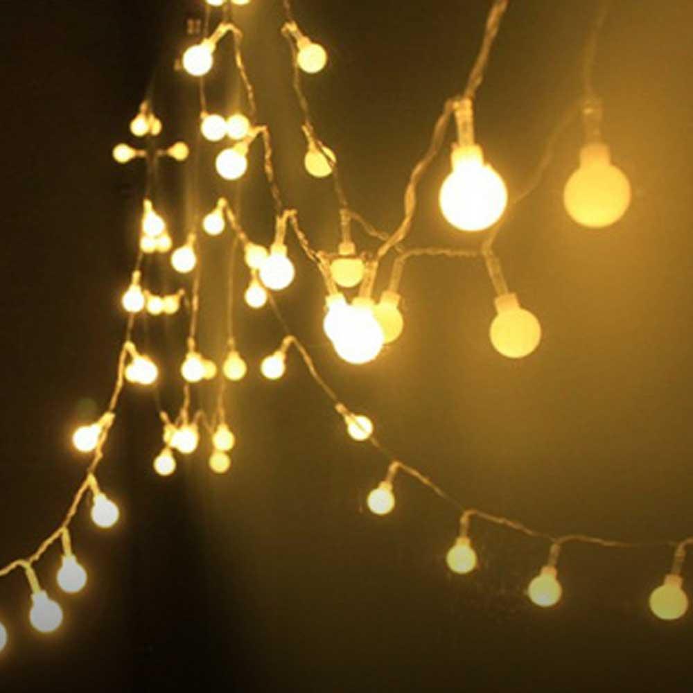 크리스마스 벽트리 LED 트리 앵두 눈꽃 전구 3m 20구
