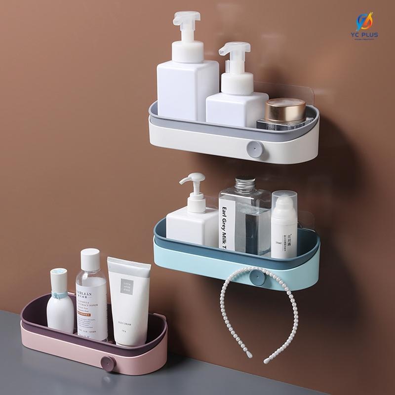 무타공 욕실선반 접착식 화장실선반 일자선반/욕