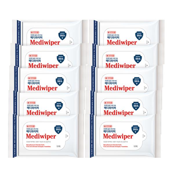 메디와이퍼 손소독티슈[의약외품] 10매 x10개