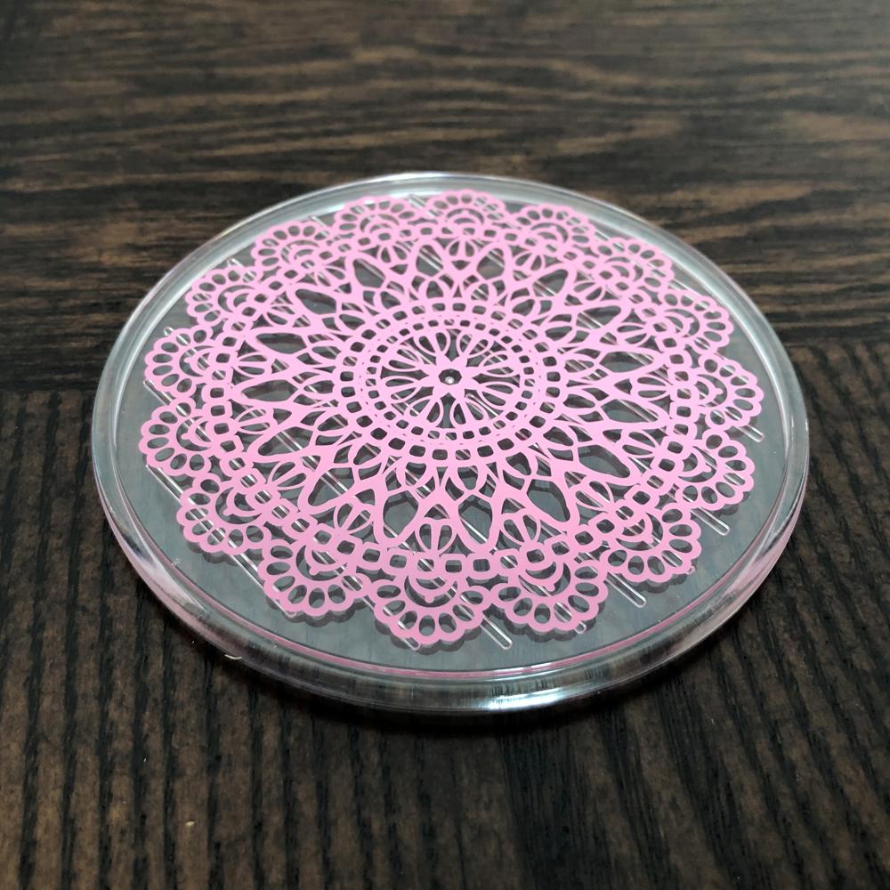 야마다 물흘림방지 컵받침 2P(핑크)