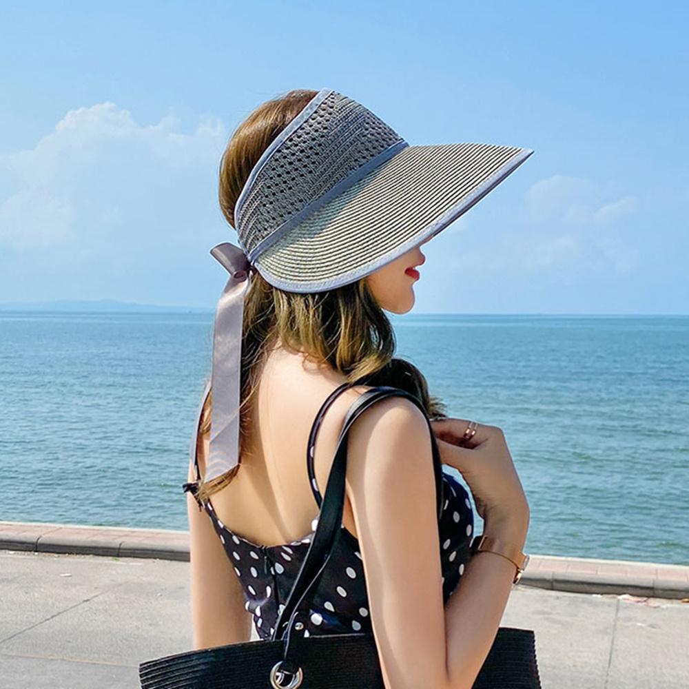 여자 밀짚 왕골 모자 파나마햇