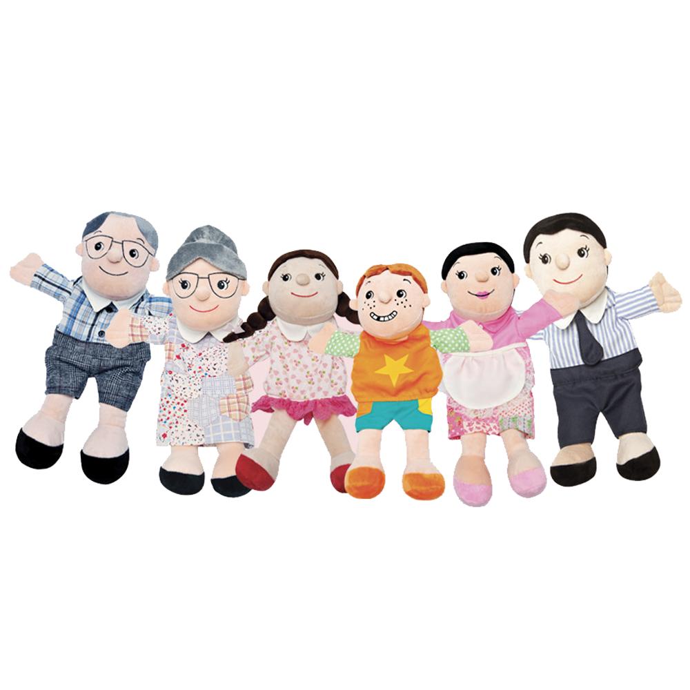 구연동화 손인형 가족 6종 세트
