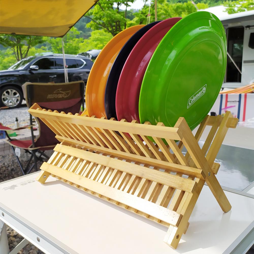 캠핑 우드 식기건조대/캠핑주방용품/캠핑식기건조