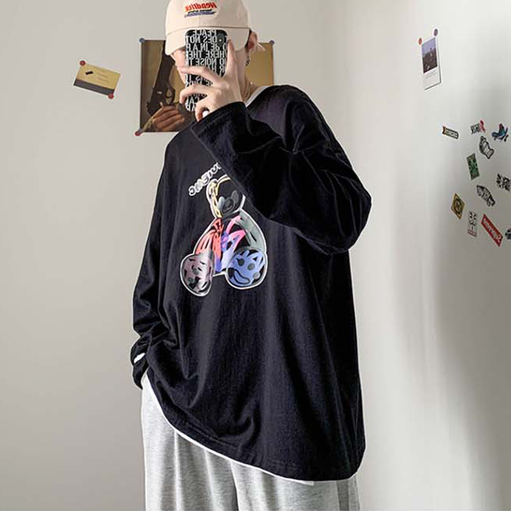 가을 오버핏 티셔츠 남성 패션 루즈핏 겨울 코