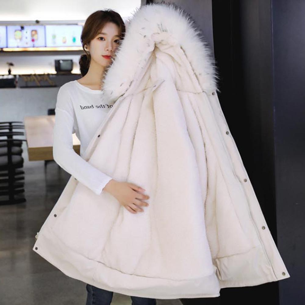 여자 후드야상 발열 안감 충전재 여성 겨울 아우터