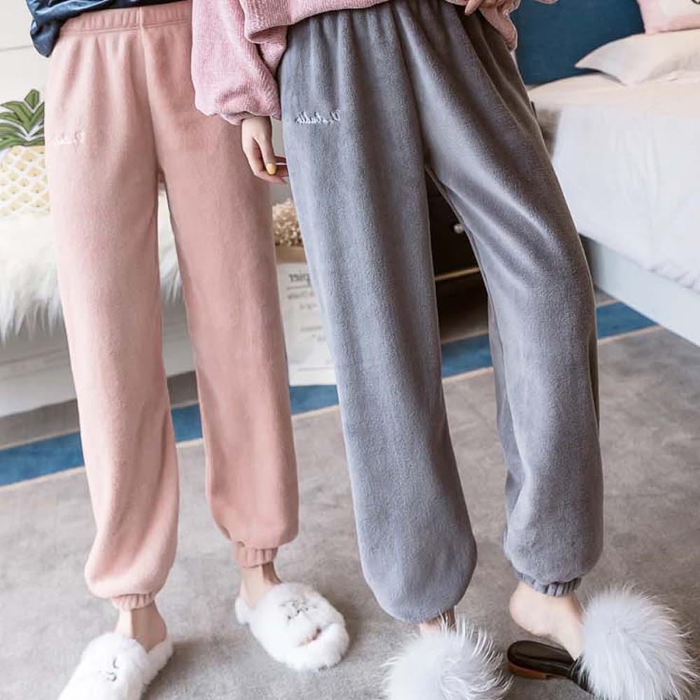 수면바지 슬립웨어 밍크 홈웨어 포근한 양털 잠옷